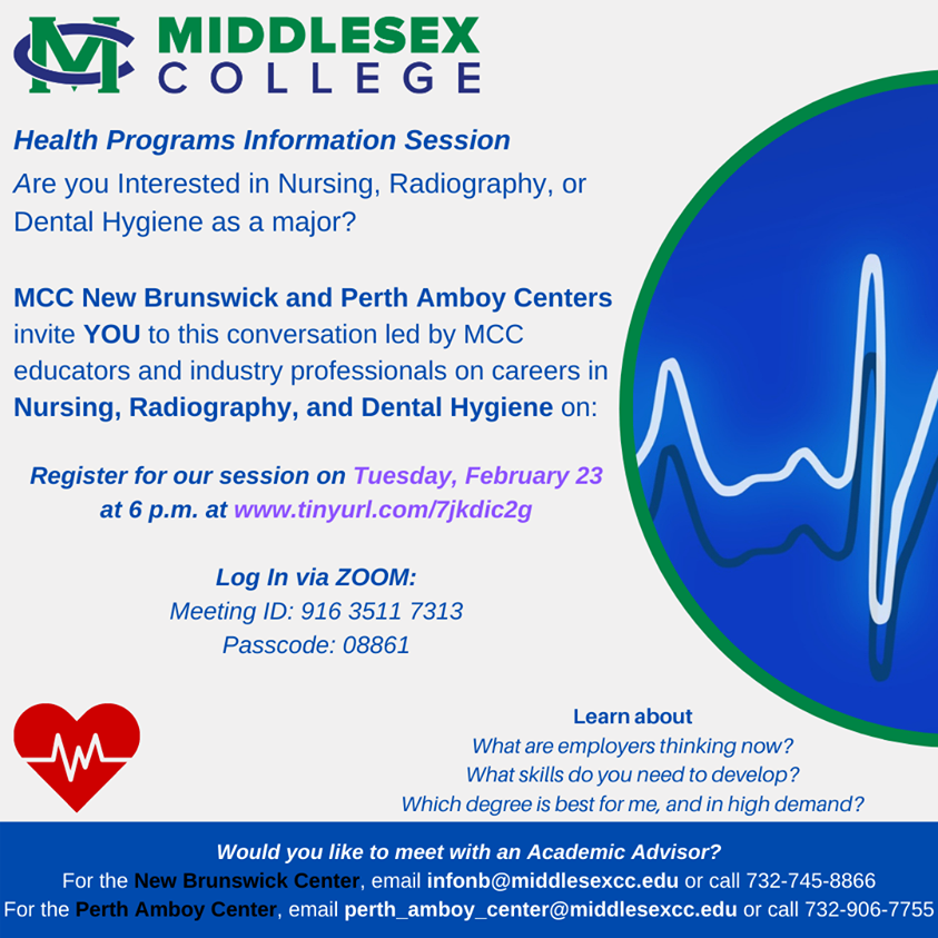 MCC Allied Health Virtual Information Session