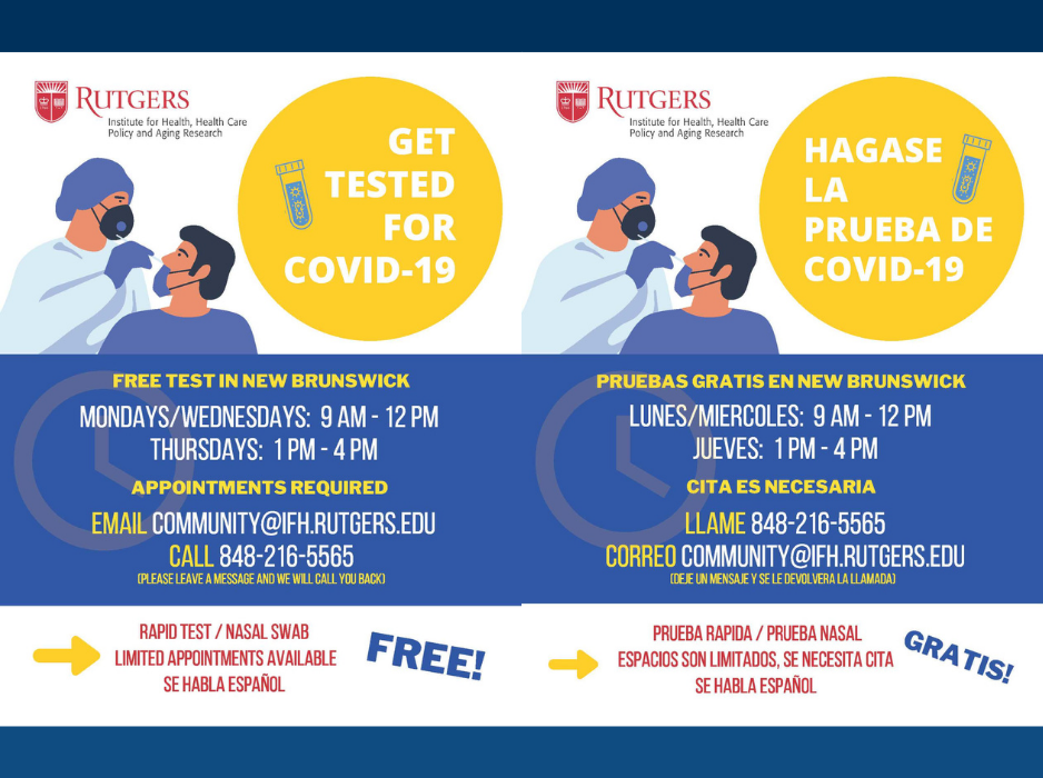 Free COVID-19 Testing from Rutgers